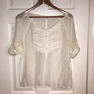 GAP WOMEN'S WHITE BLOUSE